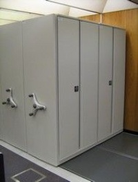 Mobile Shelving with Secure Doors